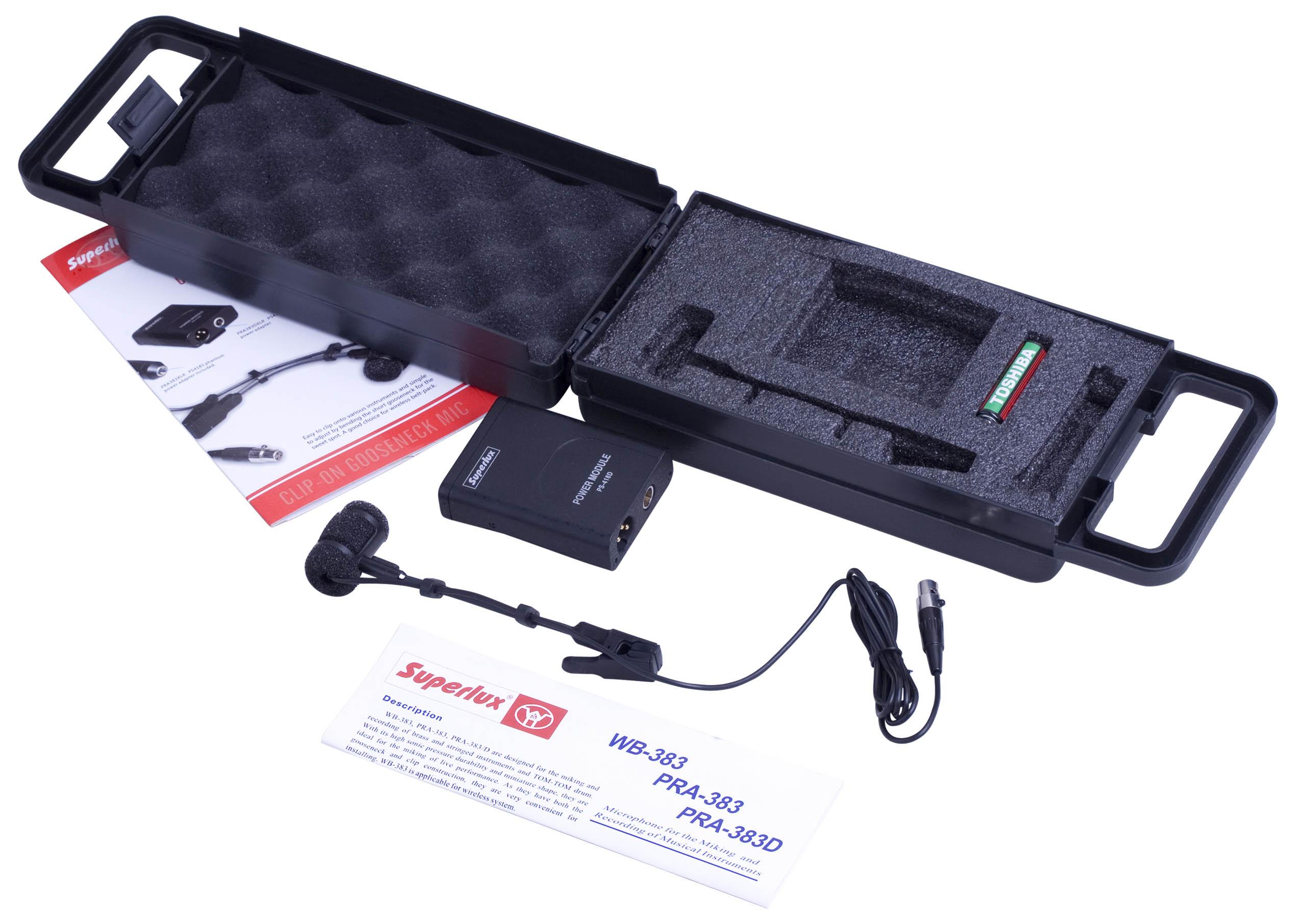 舒伯乐superlux pra383dxlr pra383d 萨克斯专用话筒